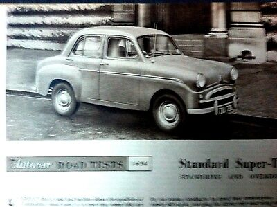 STANDARD SUPER TEN SALOON - 1957 - Road Test removed from The AUTOCAR Magazine