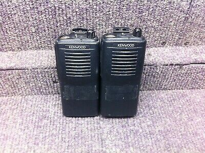 Kenwood Tk-2100 Vhf 2ch Portable Radio Lot Of 2 Parts Or Repair