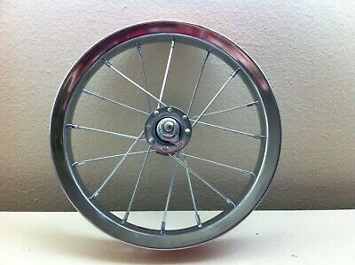 """12/"""" Front Chrome Bicycle Jogger Stroller Wheel w// Tire 12 1//2 X 2 1//4 Bike #A31"""