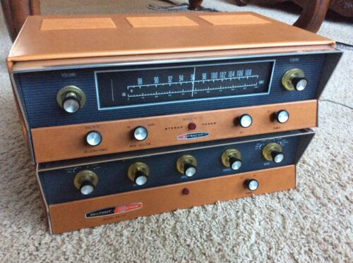 Heathkit AA-151 Vintage Tube Stereo Power Amplifier & AA-12 Tuner