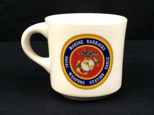 Vintage Marine Barracks Naval Weapons Station Earle Ceramic Diner Mug