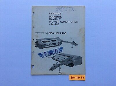 New Holland 474-489 Haybine Mower-conditioner Service Manual