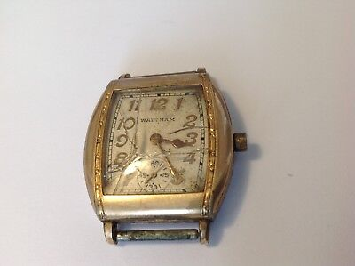 MENS RARE WALTHAM 1930'S COLLECTIBLE MANUEL WIND WATCH WITH SUBDIAL