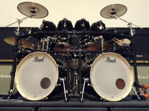 Hybrid Pearl Double Bass kit with Zildjian Gen16, Helensson Triggers and Alesis