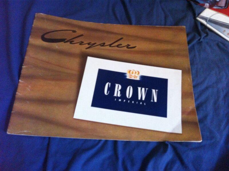 1941 Chrysler Crown Imperial Large Prestige Color Brochure Catalog Prospekt