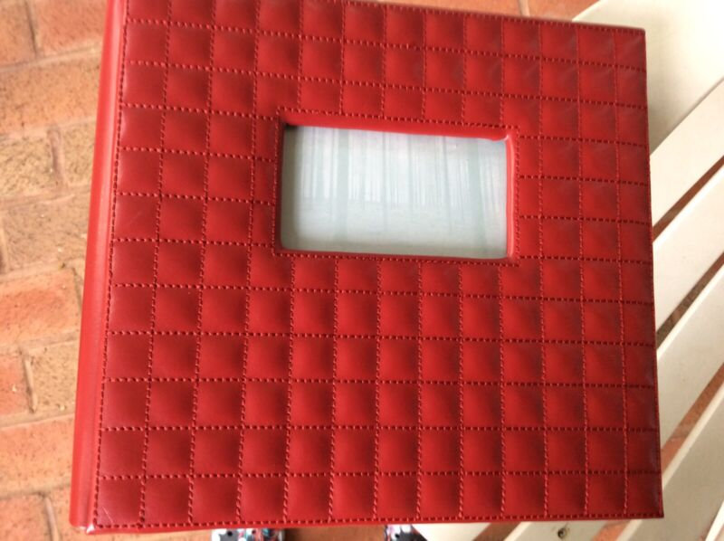 Photo Album Red Leather holds 200 4x6 photos new