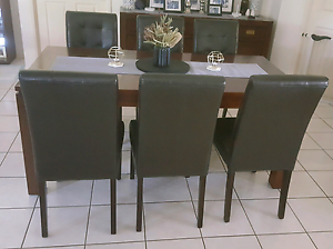 6x far pavilion Bonded Leather dining chairs Marsden Logan Area Preview
