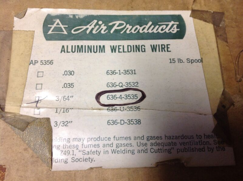 Air Products Aluminum Mig Wire 3/64