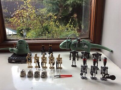 Used, Lego Star Wars Jabba The Hutt Set Battle Droids and Dewback Mini Figure Job Lot for sale  Rugeley