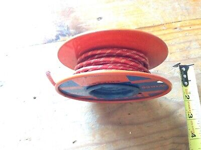 Vintage Partial Reel High Voltage Cathode Ray Tube Wire Belden 8869 Red U.s.a.