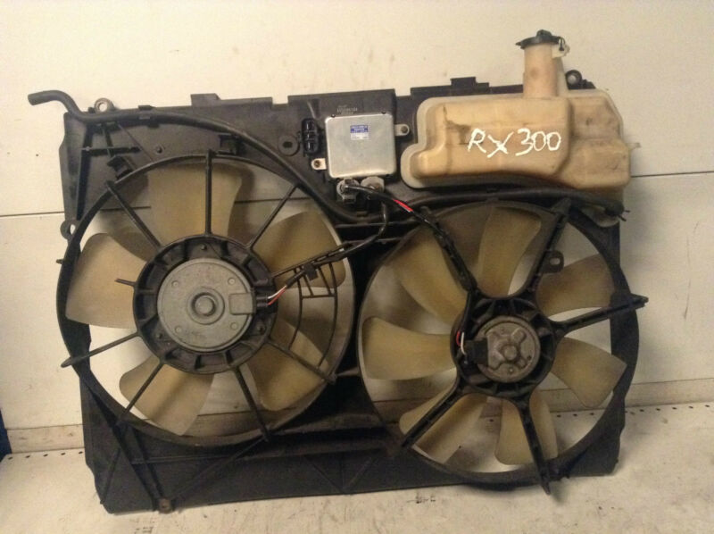 LEXUS RX300 RX 300 Radiator cooling fan and expansion tank 122750-8551