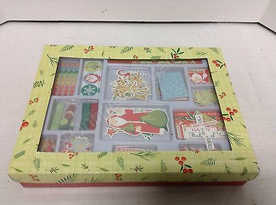 15 pack Christmas Card kit Santa make it yourself stickers saying embellishments ()