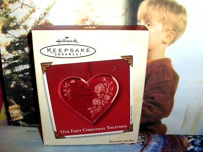 Our First Christmas Together`2002`With Memory Card`Hallmark Christmas Ornament ()