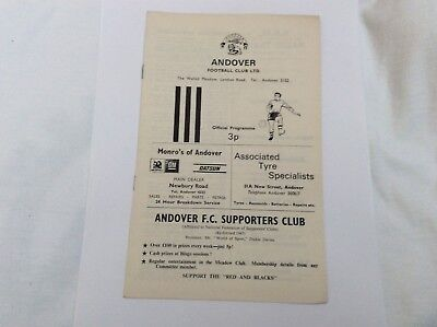 Andover v Canterbury City Southern  Leauge  March 1973