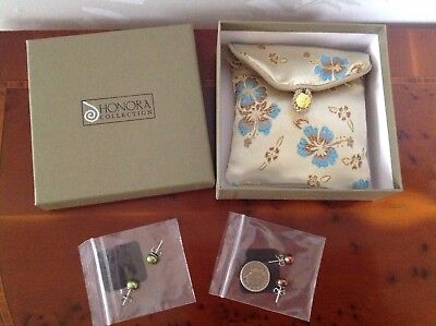 Honora CFW Pearl Stud Earrings - Sterling Silver - 2 Pairs - Boxed - Brand New