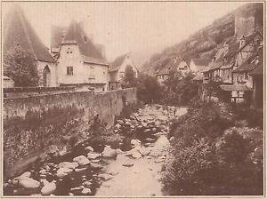 G2284-France-Kaysersberg-Vieilles-maisons-Stampa-d-039-epoca-1930-old-print