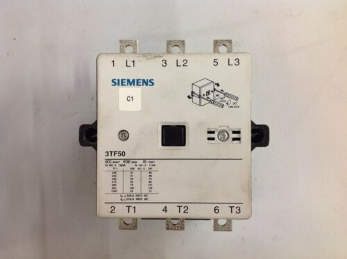 Seimens Contactor 3TF50 3PH 125HP 3P Coil 230V 50/60Hz
