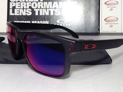 Oakley Holbrook Matte Black w/ Positive Red Iridium - SKU# 9102-36 Brand New  (Holbrook Red Iridium)