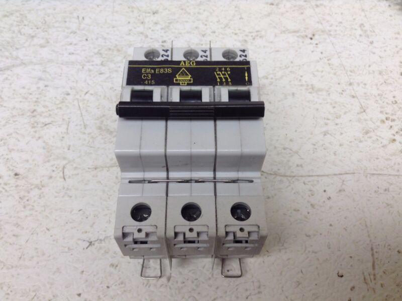 AEG Elfa E83S C3 3 Pole Circuit Breaker 3 Amp