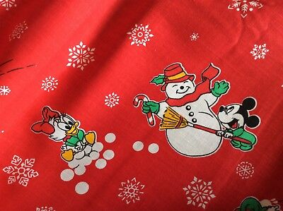 Christmas Baby Mickey Mouse   Friends Building A Snowman  1 3 4 Yard