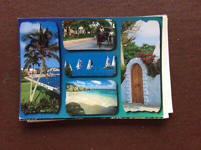 f1h postcard used Bermuda multi view card stamped franked
