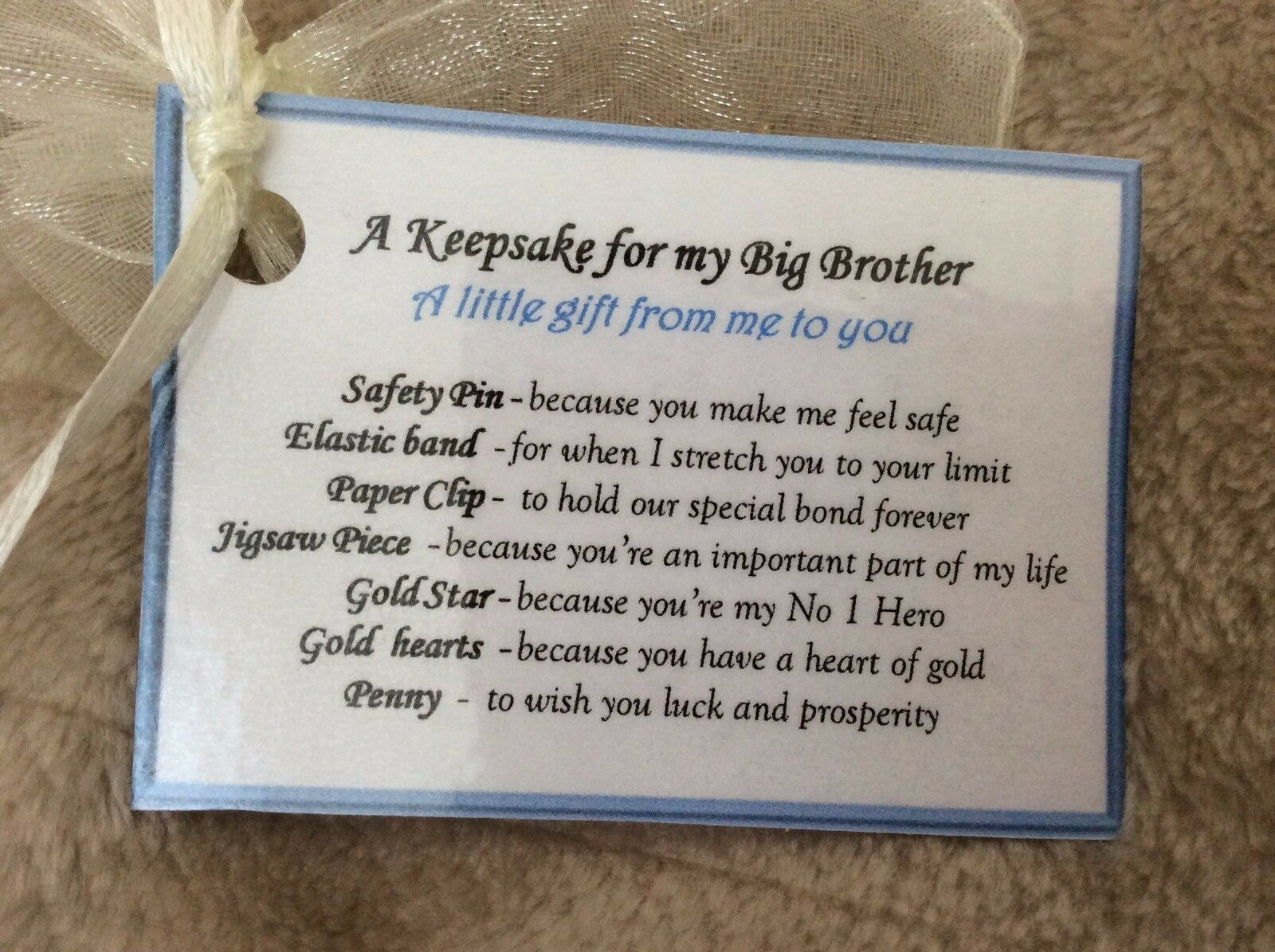 Details About Novelty Keepsake Birthday Gift Idea For My Brother Older Big Card