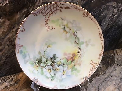 Vintage Sevres Bavaria Hand Painted White Anemone Porcelain 8-1/2