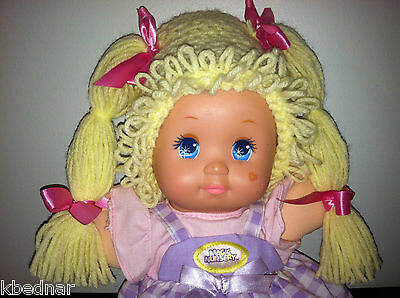 CABBAGE PATCH KID STYLE Crocheted Yellow WIG HAT Halloween Infant Baby 0-12 Mo - Cabbage Patch Baby Halloween