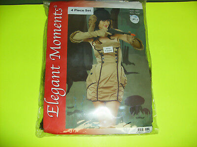 ELEGANT MOMENTS SEXY TRAPPER HUNTER WOMEN HALLOWEEN COSTUME LARGE
