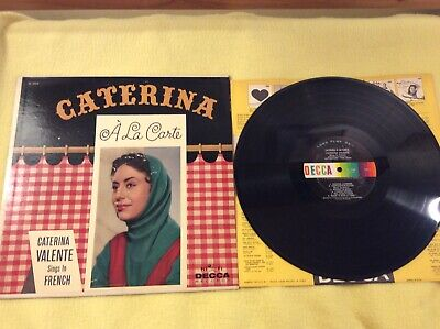 "Caterina Valente""Caterina A La Carte"" Vinyl=VG 12""LPRecord DL4050 Pop,Folk,World"