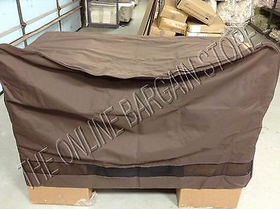 Pottery Barn West Elm Outdoor Yard Patio Pool Loveseat Furniture COVER Chocolate ()