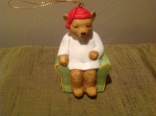 Collectible CELESTIAL SEASONINGS 25th Anniversary Bear Christmas Ornament
