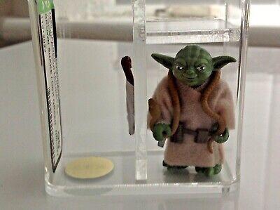 AFA U90 Kenner 1980 Star Wars Loose Yoda Dark Green Brown Snake Mint