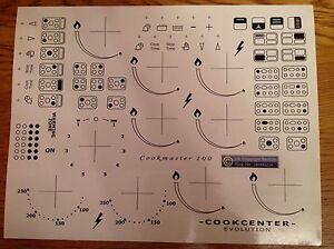 COOKER / OVEN DECALS, TRANSFERS, STICKERS, SYMBOL REPLACEMENT