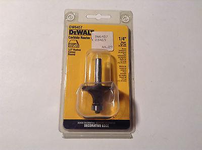Dewalt Dw6457 Carbide 12 Radius Corner Round Router Bit 14 Shank