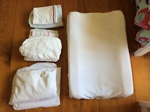 Change mat and covers (2) , waterproof mattress protectors (2) for cot Dutton Park Brisbane South West Preview