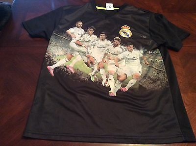 (Real Madrid Football Club Youth Jersey Size L Benzema Bale Ronaldo Ramos)