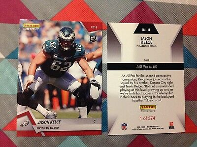cd39db09be75 Jason Kelce  11 Eagles 2018   2019 Panini Instant Red First Team All-Pro