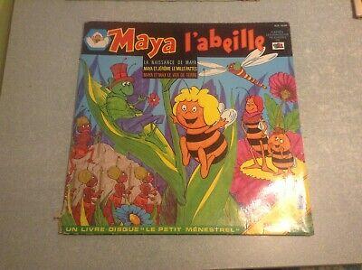 Disque vinyle 33 tours (b) maya l'abeille
