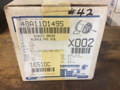 Marathon Electric 48A1101495 Direct Drive Blower Psc Motor, 1E510C, New
