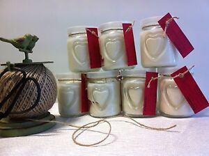 Heart Glass Jar Natural Soy Wax Candle Bidwill Blacktown Area Preview