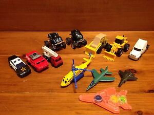 Lot of Toys cars, Fire Truck, Police, Plane