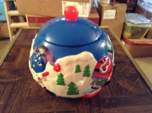 M & M ceramic cookie jar by Galerie