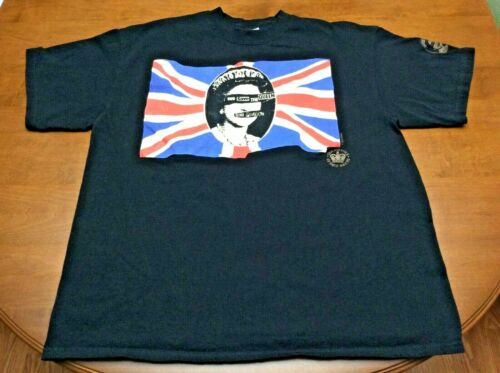 """Sex Pistols """"God Save the Queen"""" Black Shirt 2002 Adult Extra Large XL"""