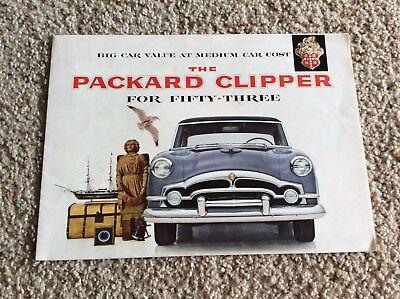1953 Packard Clipper, original factory printed sales handout for sale  Longview
