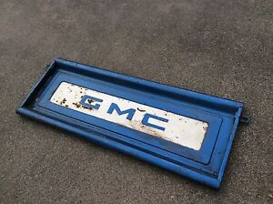 Original GMC Pickup Truck Bed Tailgate Step Side Embossed