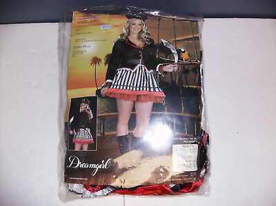 DREAMGIRL TREASURE ME PIRATE WOMEN HALLOWEEN COSTUME 1X/2X - Dream Girl Pirate Costume