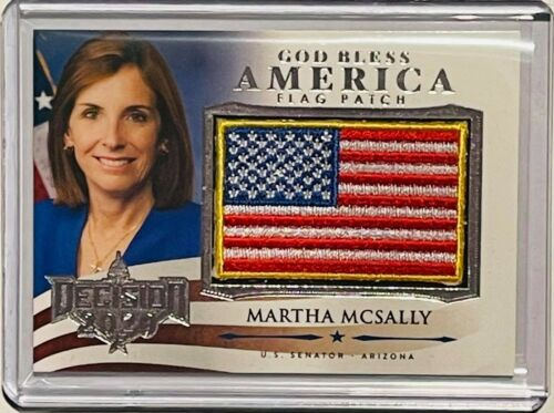 MARTHA MCSALLY 2020 DECISION FLAG PATCH SILVER FOIL LIMITED EDITION US SENATOR