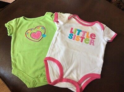 2 romper's, baby girl clothes 0-3 months