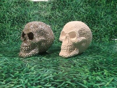 LATEX AND FIBREGLASS MOULD SKULL 14CM TALL ORNAMENT MOULD